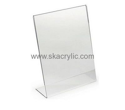 Custom Design Plastic Sign Holder 8 5 X 11 Plastic Tabletop