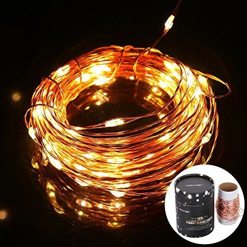 taotronics led string lights copper wire lights, waterproof starry string  lights, d�cor rope lights for seasonal decorative christmas holiday,  wedding,