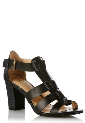 d09d6c56818 Cato Fashions Wide Width Chunky Heel Gladiator Sandals  CatoFashions ...