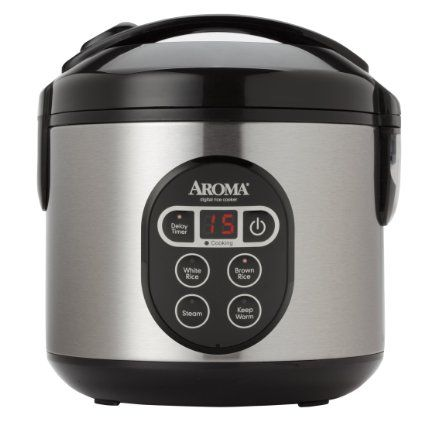 Aroma Housewares ARC-914SBD 8-Cup (Cooked) Digital Cool-Touch Rice Cooker and Steamer.  (affiliate link)