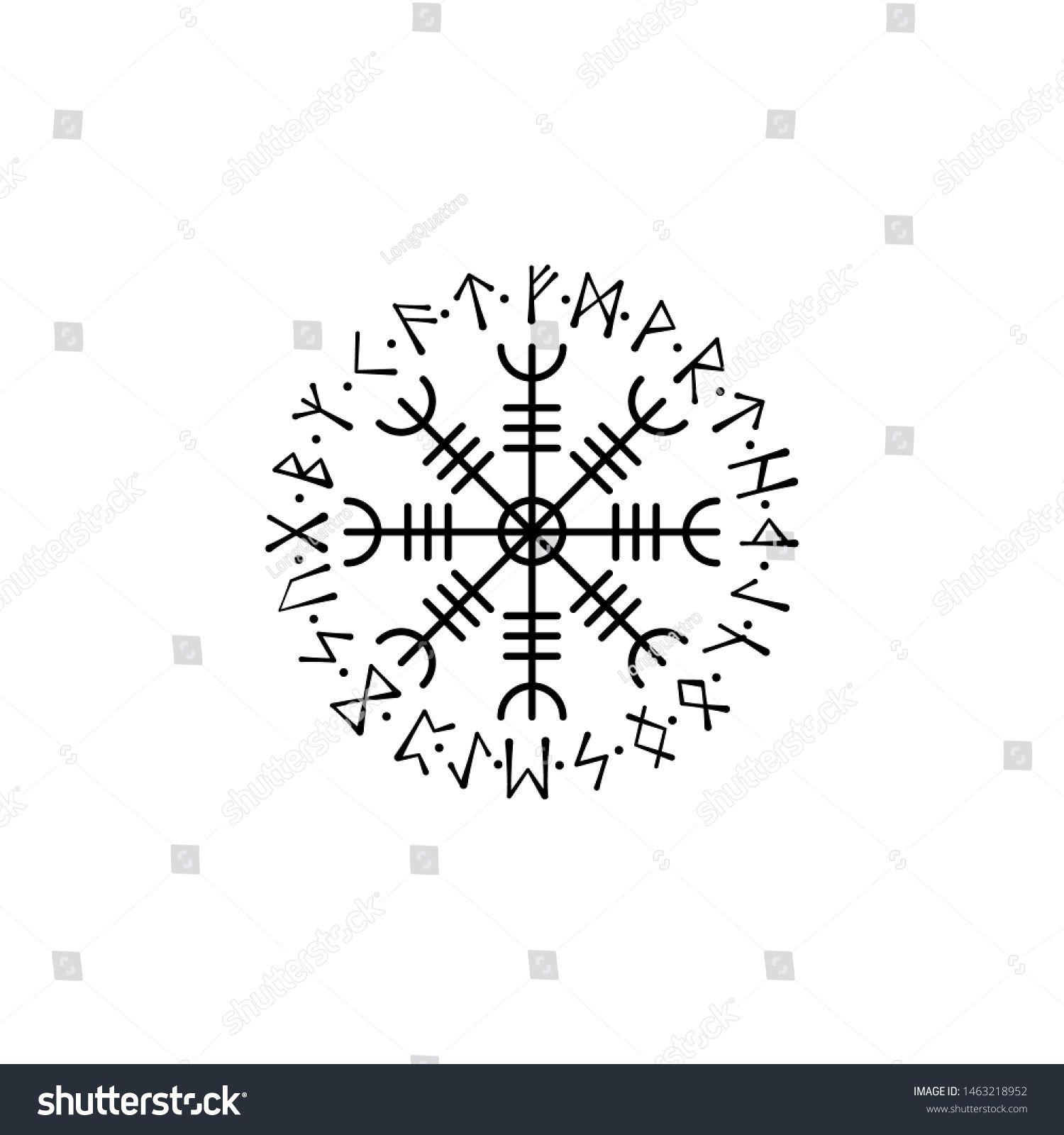 Old Scandinavian Runic Grunge Letters Viking Stock Vector Royalty Free 1463218952 Vikingsymbols Old Scandinavia Viking Symbols Vikings Inspirational Posters