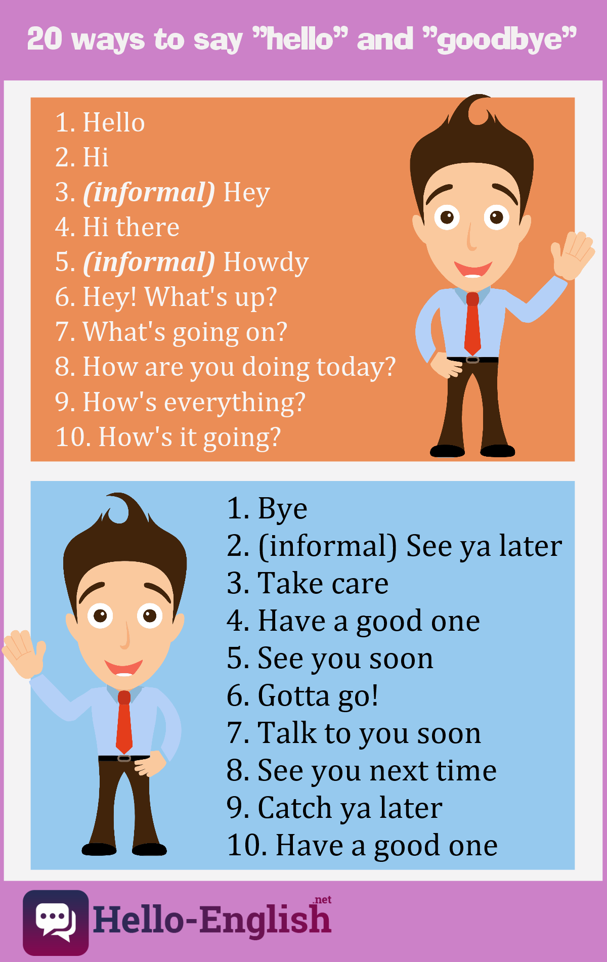 20 Ways To Say Hello And Goodbye In English Ways To Say Hello English Talk Hello English