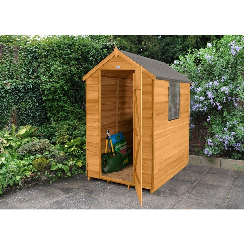 find forest golden brown overlap apex wooden shed at homebase visit your local store for the widest range of garden products - Garden Sheds Homebase