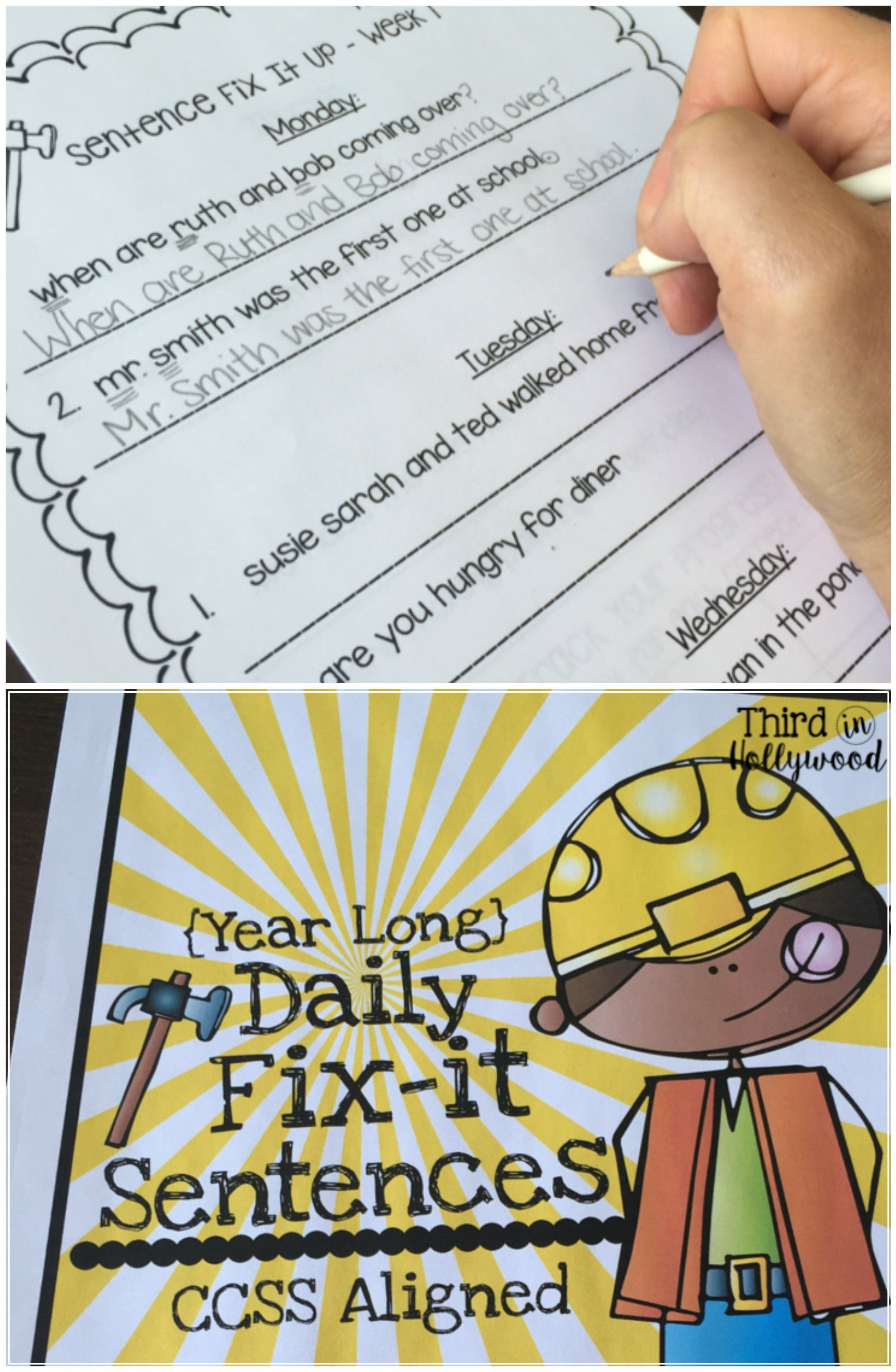 Daily Fix It Sentences Year Long Editing Practice
