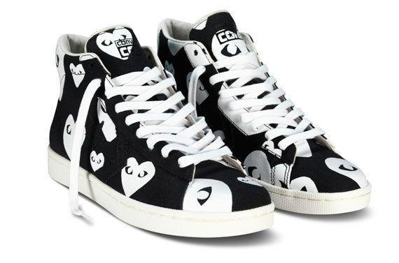 59b97893975c Converse x Comme des Garcons Play Canvas High-Top Sneakers 8M 7.5W US NIB   150  ConversexCommedesGarcons  FashionSneakers