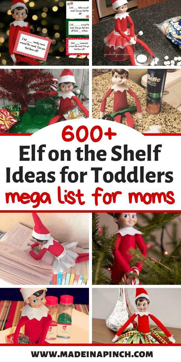 Fun & Clever Elf On The Shelf Ideas For Toddlers #elfontheshelfideasfortoddlers