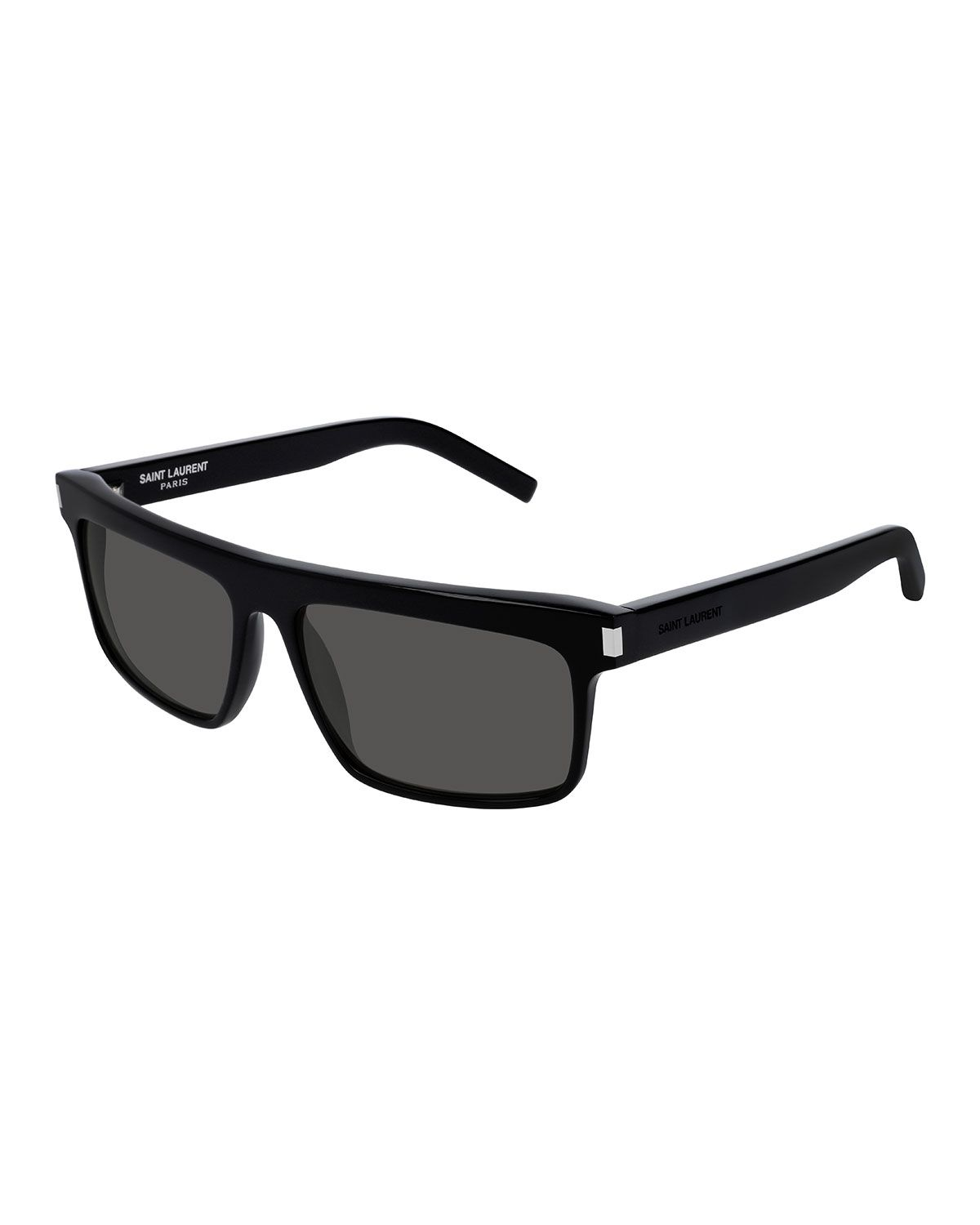 4d637f60fbe90 SAINT LAURENT MEN S FLATTOP RECTANGLE SUNGLASSES WITH MINERAL GLASS LENSES.   saintlaurent