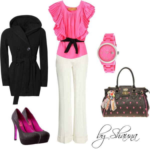"""""""pretty in pink"""" by shauna-rogers on Polyvore"""