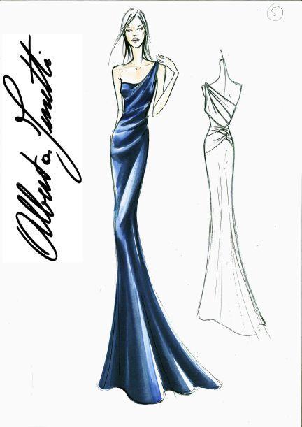 Boceto de vestidos - Imagui