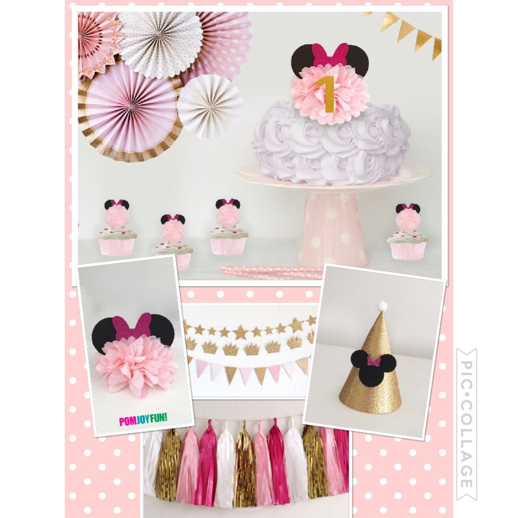Perfect Minnie Mouse party decor from pomjoyfun2.com | Paper Wedding ...
