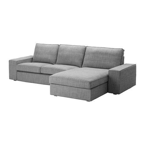 Schlafcouch ikea grau  KIVIK 2er-Sofa und Récamiere IKEA KIVIK ist eine großzügige ...
