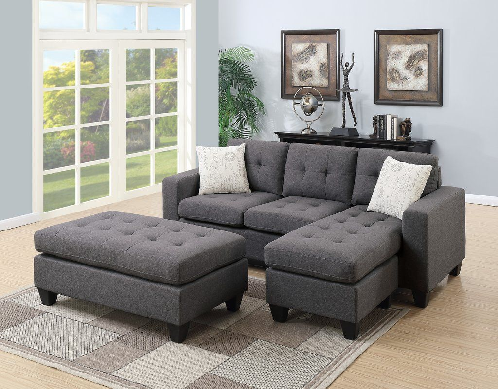 Michaud Reversible Sleeper Sectional With Ottoman Small Sectional Sofa Grey Sectional Sofa Sectional Sofa With Chaise