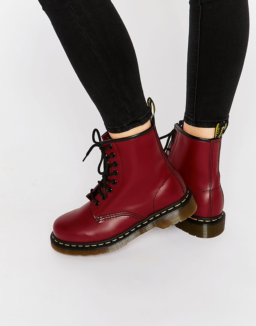 Dr Martens Cherry Red Smooth 8-Eye Boots