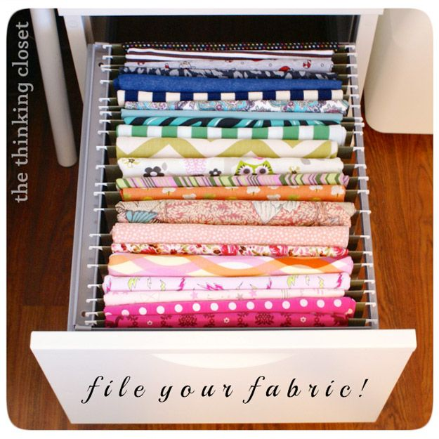 50 clever craft room organization ideas fabric organizer sewing 50 clever craft room organization ideas solutioingenieria Gallery