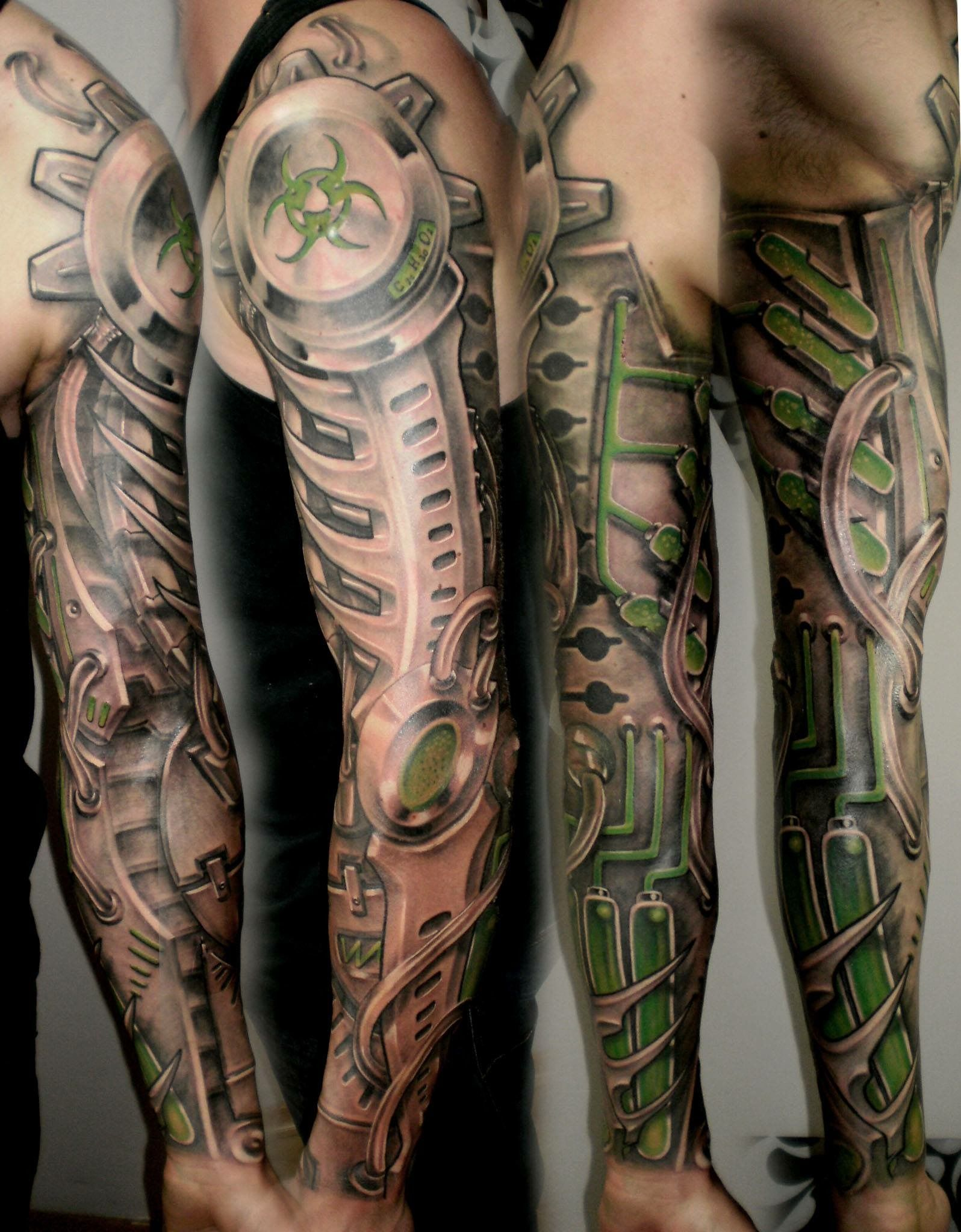 Biomechanik Tattoo Ganzer Arm pinbrad arimond on likes/interests | biomechanical