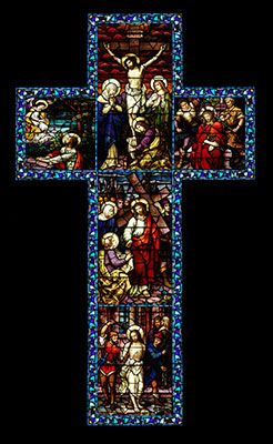 Stained Glass Crosses Stain Glass Cross Stained Glass Windows Church Cross Art