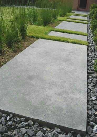 Project   Vertus  Hipster Edgy Grass Dividers Break Up The Concrete.