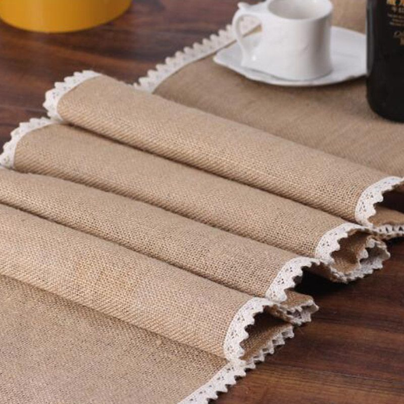 Cheap Table Runners Buy Directly From China Suppliers Balle Burlap Lace Table Runner Wholesale In 2020 Burlap Lace Table Runner Hessian Table Runner Table Runner Diy