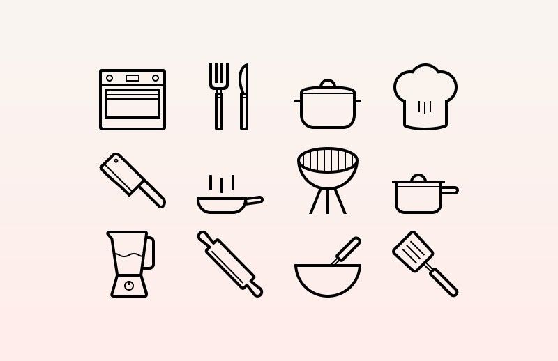 Cooking Vector Icons Cooking Icon Recipe Icon Vector Icons