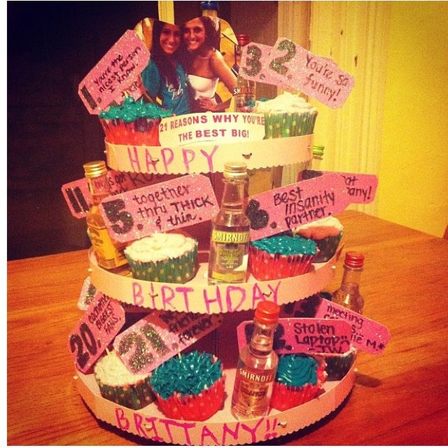 eecb21101548 21st birthday gift for my big! 21 reasons why you re my best friend ...