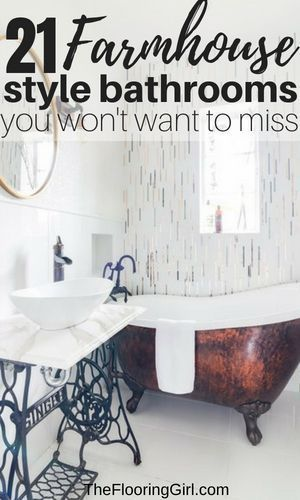 21 modern farmhouse style bathrooms for a rustic shabby chic look rh pinterest com