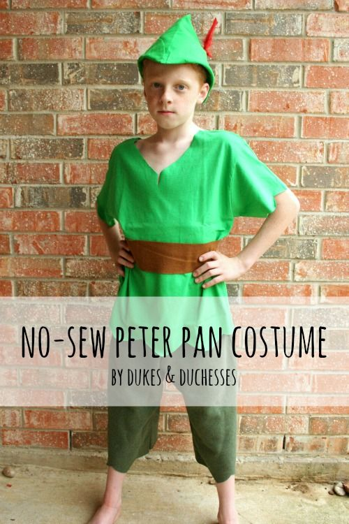 706b38fd591 Make a quick and easy no-sew DIY Peter Pan costume for your child ...