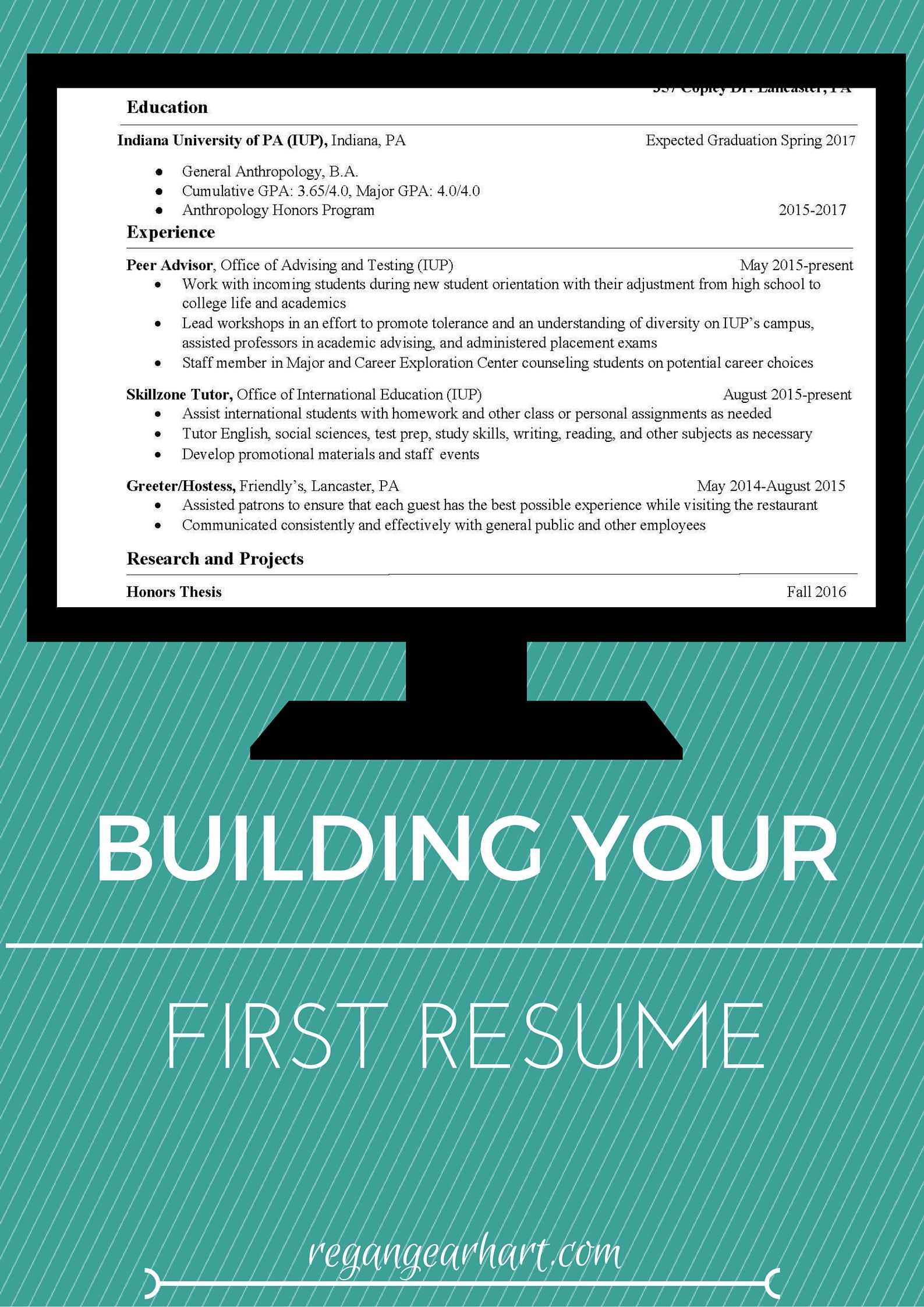 Career Builder Resume Template Tips And Tricks On How To Start Building Your First Resume