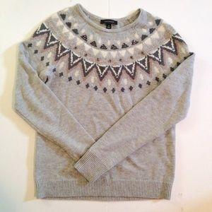 Ann Taylor Jewel Detail Fair Isle Sweater | D, Jewels and Sweaters