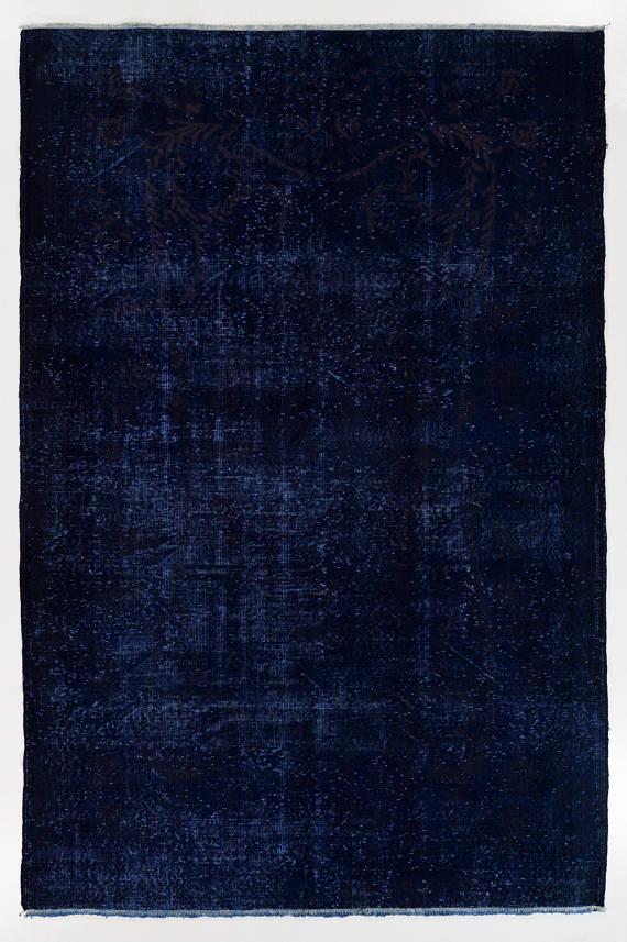 6 4x9 6 Ft Dark Navy Blue Color Distressed Vintage Rug Wool Navy Blue Color Blue Color Dark Navy Blue