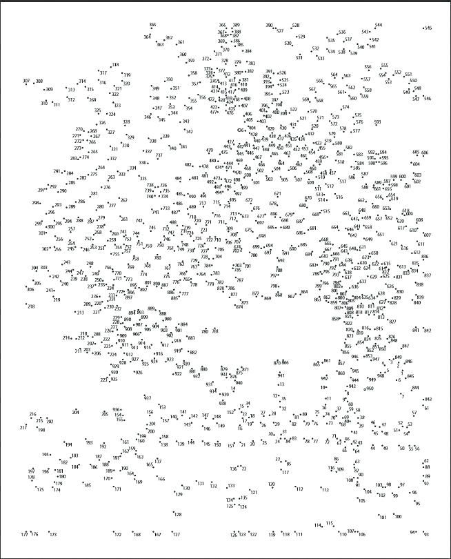 extreme connect the dots printable free ...   Dot to dot ...