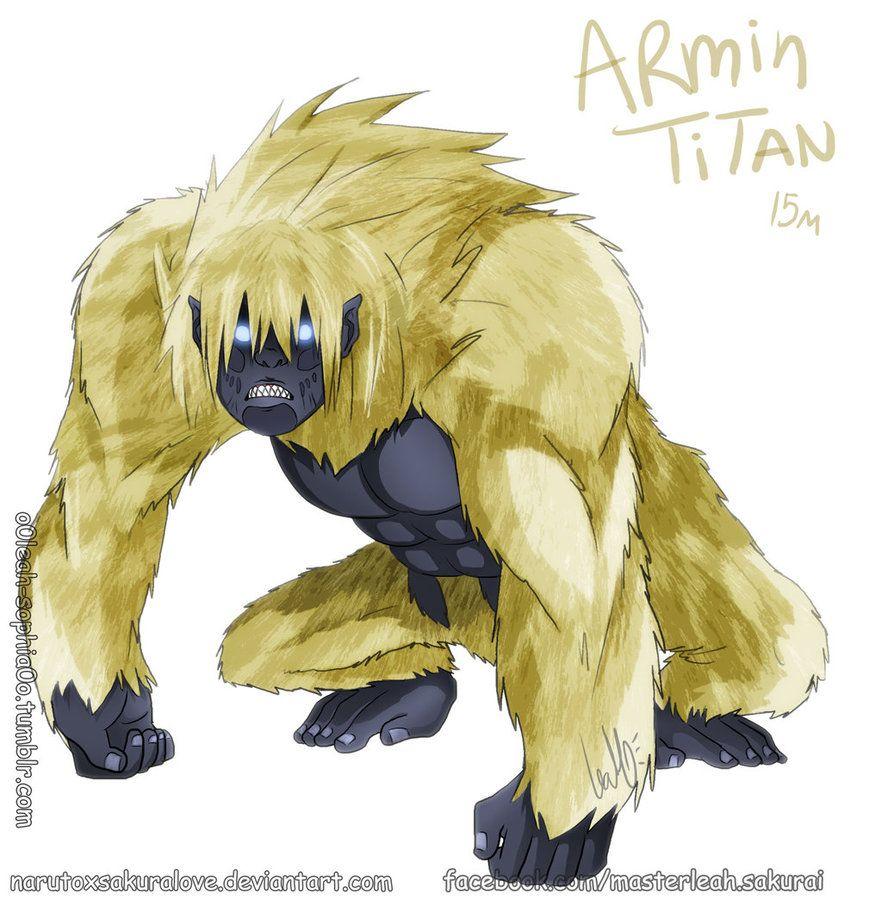 Armin Arlert Titan Form By Narutoxsakuralove Deviantart Com