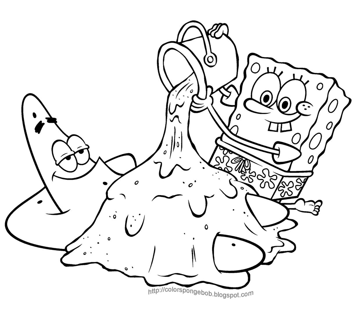 Spongebob Printable Coloring Pages Printable Spongebob