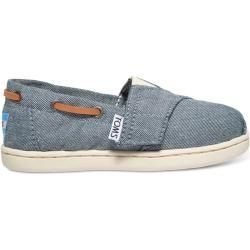 Toms Shoes Blue Chambray SlipOns  Size 285 TomsTomsblue