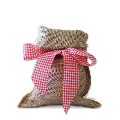 Enfeite de Mesa Saco de Juta com Laço Compre Agora! Festabox