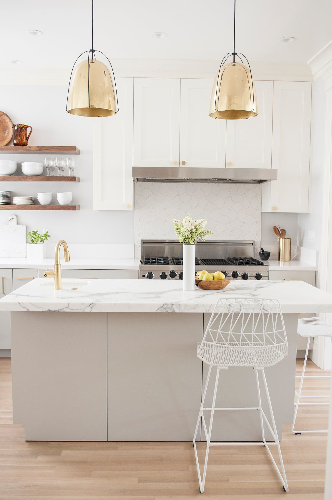Haleigh 12 Quot Lacquered Brass Dome Pendant In 2019 Kitchen