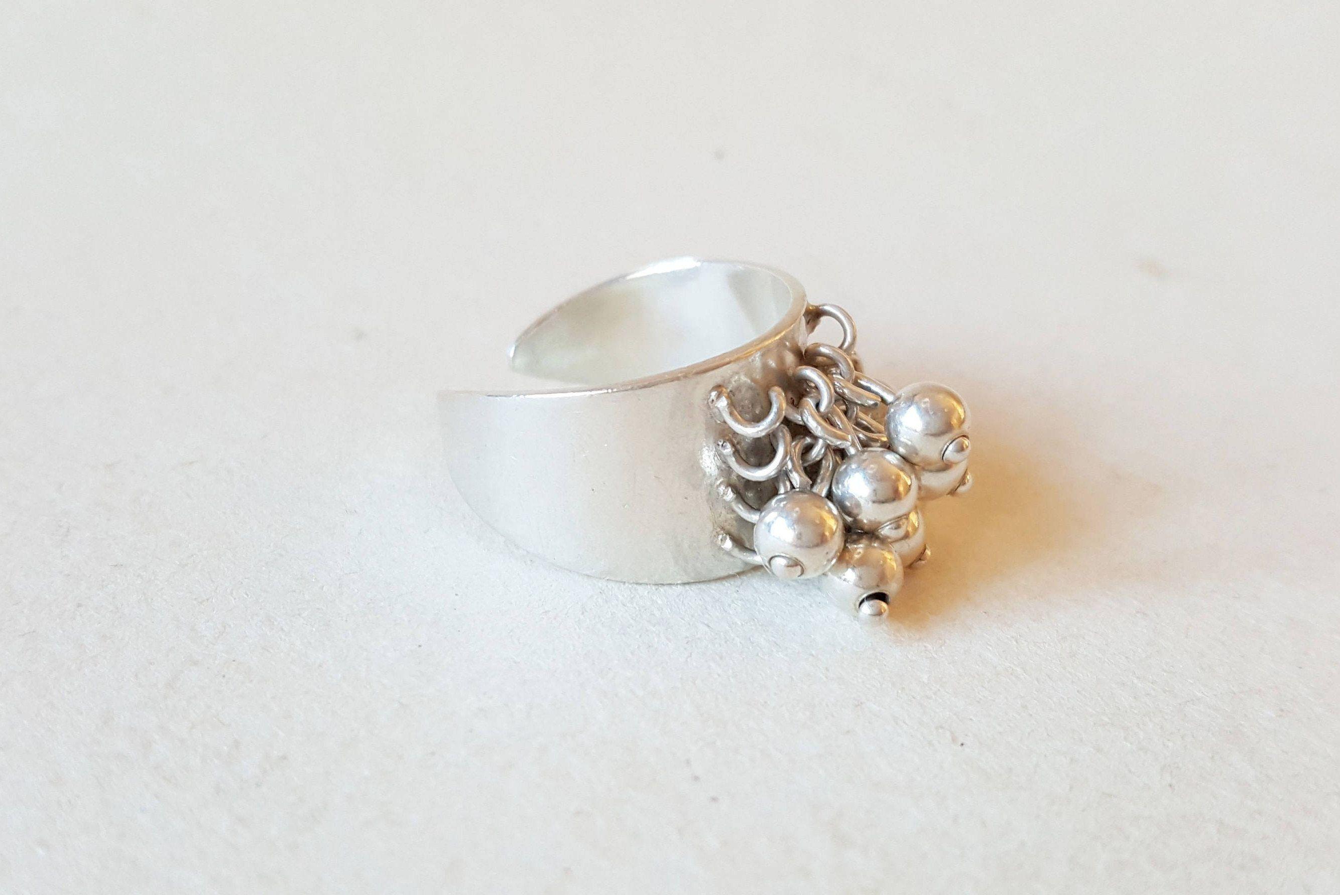 Gorgeous kinetic silver ring, Heikki Juhana Kaksonen, 1965 (F901) by LifeUpNorth on Etsy