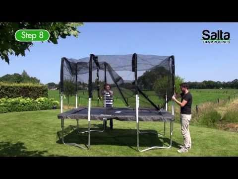 Salta Trampolines Rectangular With Safety Net Instruction Video Trampoline Salta Sicherheitsnetz