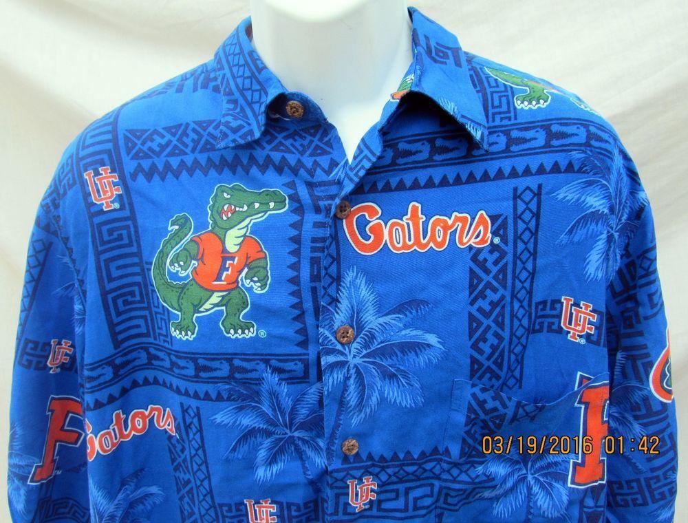 737cca27 Reyn Spooner University of Florida Gators Hawaiian Shirt XL Genuine  Football #ReynSpooner #Hawaiian