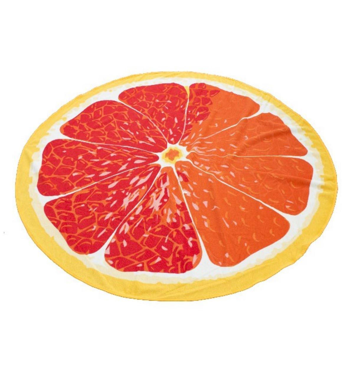 Grapefruit Round Beach Towel Beach Towel Round Beach Towels Towel