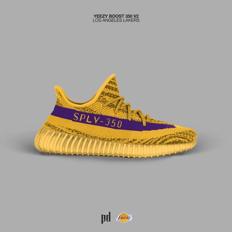 new arrivals 8b287 b7176 Latest Adidas Yeezy Boost 350 V2 Los Angeles Lakers 2018 ...
