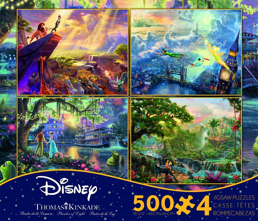 Thomas Kinkade Disney Multipack 4 in1 Puzzles (With
