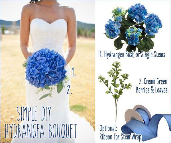 DIY Blue Hydrangea Wedding