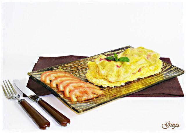 As várias faces da Ginja: Omelete (proteica) com fiambre e milho