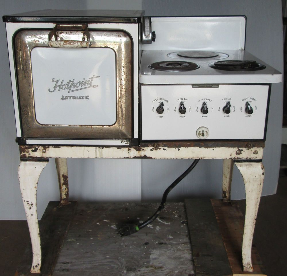us  950 00 used in collectibles kitchen  u0026 home large appliances antique hotpoint automatic electric stove oven   electric stove      rh   pinterest com