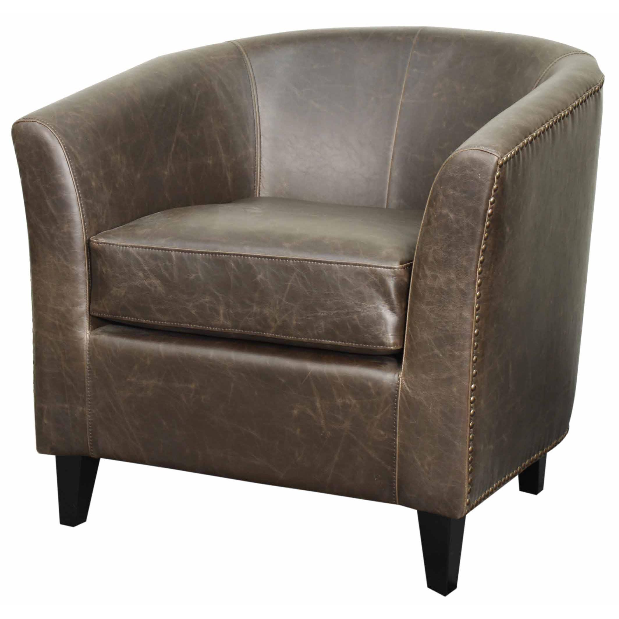 Orson Bonded Leather Tub Chair Black Legs Tub Chair Barrel Chair Furniture