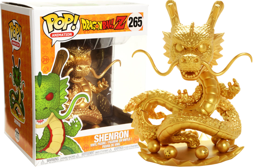 Dragon Ball Z Funko Pop Shenron Gold 265 Vinyl Figures Dragon Toys Dragon Ball Z