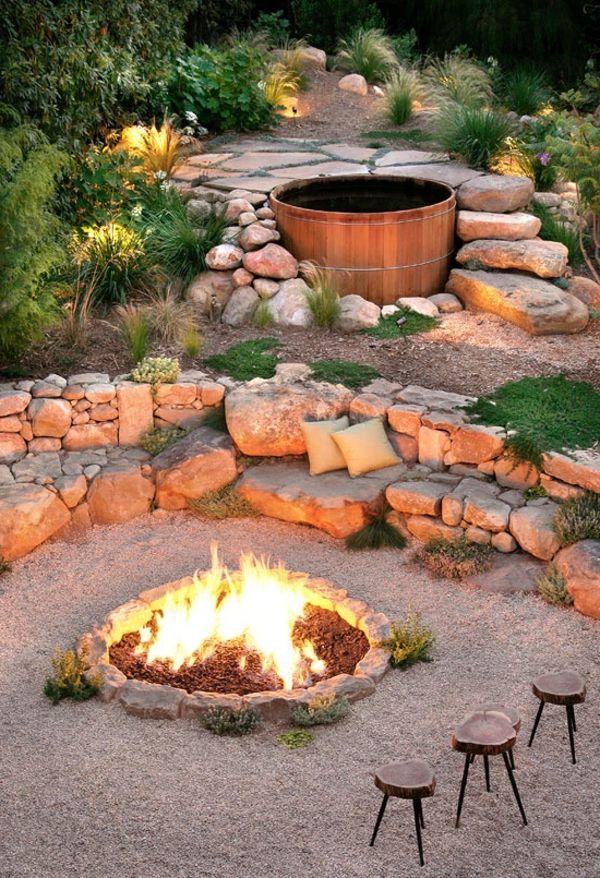 Feuerstelle Im Garten Bauen. Die Besten 25+ Feuerstellen Ideen Auf