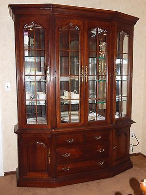 Thomasville Cherry Grove China Cabinet Hutch Retail 326000 Real Wood Lighted Ebay Finds