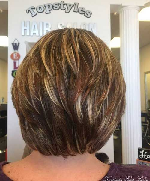 20 Chic Bob Haircut with Layers #shortlayeredhairstyles