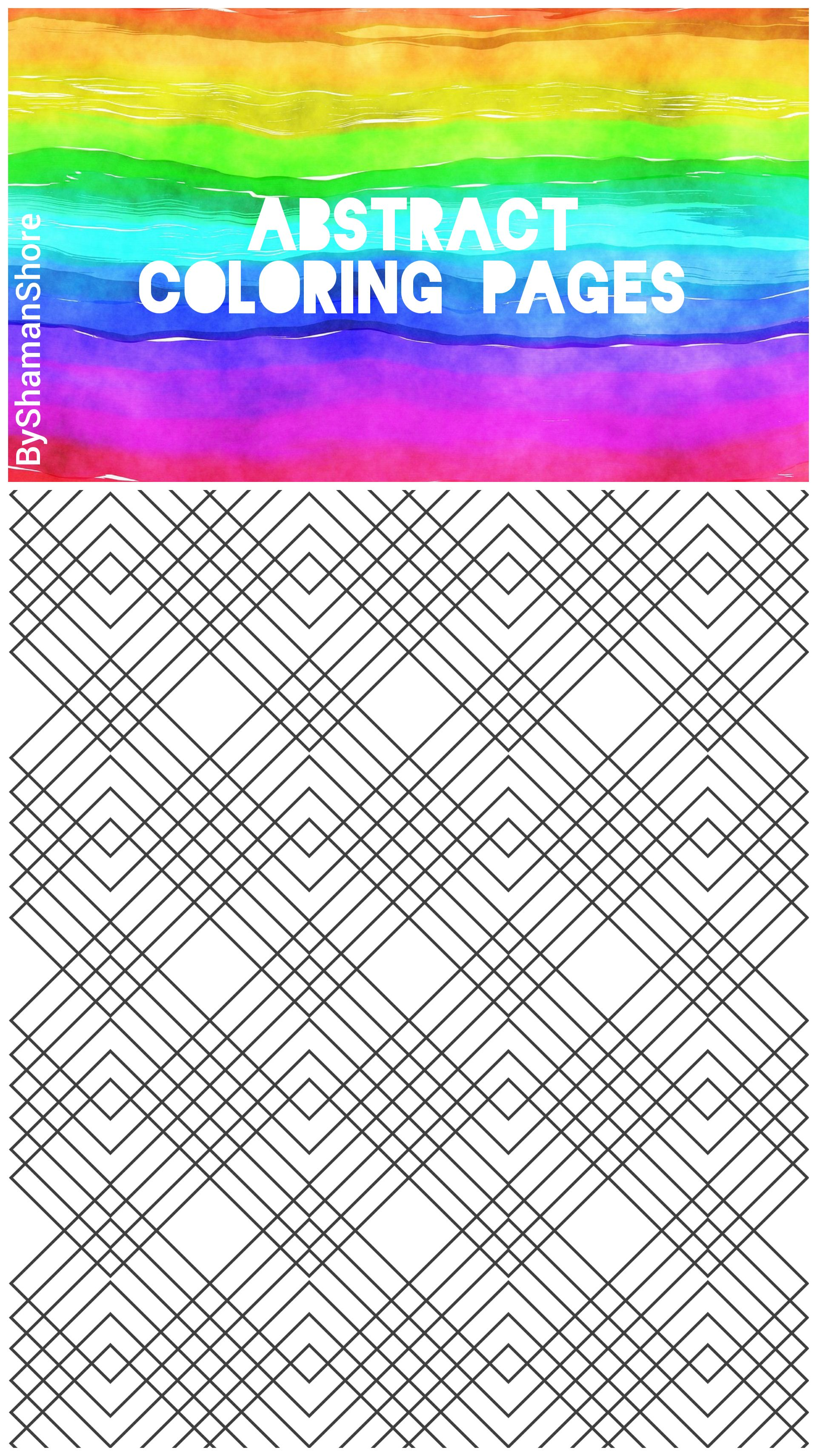 Abstract Coloring Pages For Grown Ups Printable Adult Download